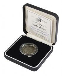 1995 Silver Proof Piedfort £2 United Nations for sale